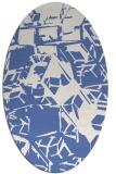 rug #500337 | oval blue abstract rug