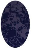rug #500381   oval blue-violet abstract rug