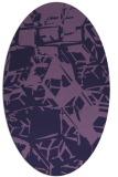 rug #500393 | oval blue-violet rug