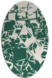 rug #500429 | oval blue-green abstract rug