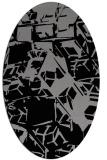 rug #500472 | oval abstract rug