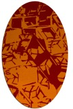 rug #500485 | oval red-orange abstract rug