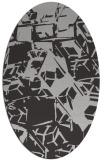 rug #500497 | oval orange abstract rug