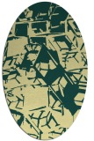 rug #500501 | oval yellow abstract rug