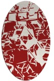 rug #500545 | oval red abstract rug