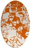 rug #500565 | oval red-orange abstract rug