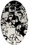 rug #500569 | oval white abstract rug