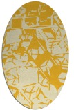 rug #500585 | oval yellow rug