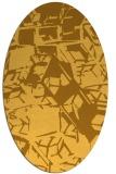 rug #500601 | oval light-orange abstract rug
