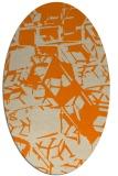 rug #500613 | oval orange abstract rug