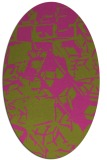 rug #500625 | oval light-green rug