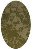 rug #500629 | oval light-green popular rug