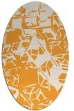 rug #500645 | oval white abstract rug