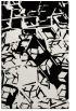 rug #500921 |  white abstract rug