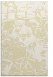 rug #500941    yellow abstract rug