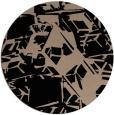 rug #501013 | round black rug