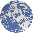 rug #501041 | round blue abstract rug
