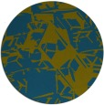 rug #501061 | round blue-green abstract rug