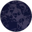 rug #501085 | round blue-violet abstract rug