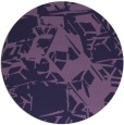rug #501097 | round purple abstract rug