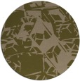 rug #501121 | round brown abstract rug