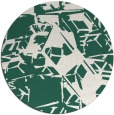 rug #501133 | round green abstract rug