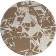 rug #501153 | round beige abstract rug
