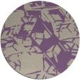 rug #501181 | round purple abstract rug