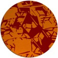 rug #501189 | round orange abstract rug