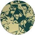 rug #501205 | round yellow popular rug