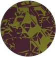 rug #501229   round purple abstract rug