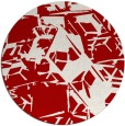 rug #501241 | round red abstract rug