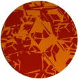 rug #501245   round red abstract rug