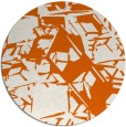 rug #501269 | round red-orange abstract rug