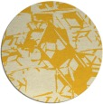 rug #501289 | round yellow abstract rug
