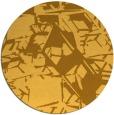 rug #501305 | round light-orange abstract rug