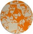 rug #501317 | round beige abstract rug
