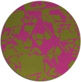 rug #501329 | round light-green rug
