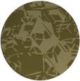 rug #501333 | round light-green rug