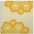 rug #501993 | square yellow graphic rug