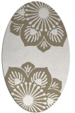 rug #502057 | oval white natural rug