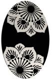 rug #502061 | oval black natural rug