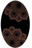 rug #502073 | oval black natural rug