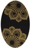 rug #502077   oval black graphic rug