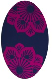 rug #502085 | oval blue graphic rug