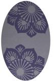 rug #502145 | oval blue-violet graphic rug