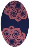 rug #502149 | oval pink natural rug