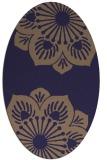 rug #502165 | oval blue-violet popular rug