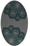 rug #502185 | oval blue-green natural rug