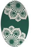 rug #502189 | oval blue-green natural rug